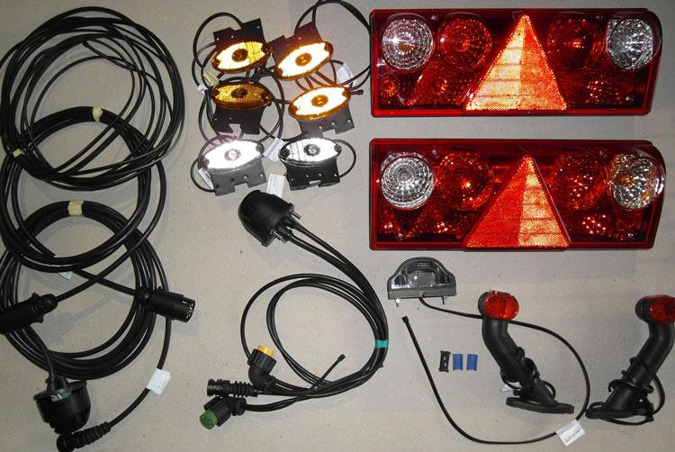Brantner Kipper und Anhänger - Europoint II Beleuchtungsset für Z18051 + Z15045