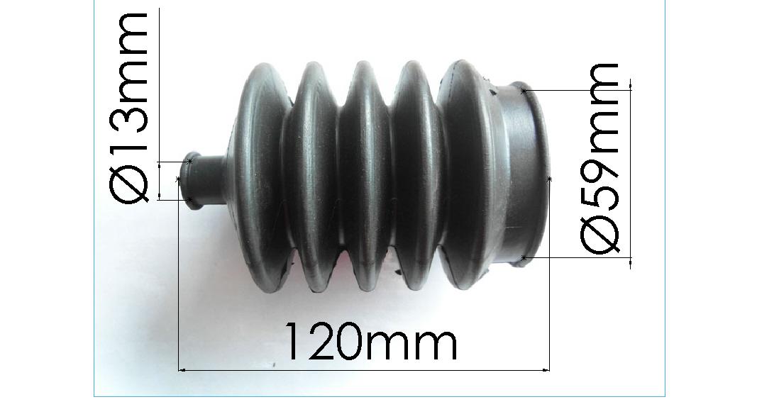 Brantner Kipper und Anhänger - DL Faltenbalg für Kolbenbremszylinder Ø 100 Knorr