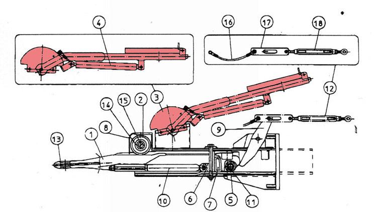 Brantner Kipper und Anhänger - Handbremshebel f. Auflaufeinrichtung TA80-RC2 FAD
