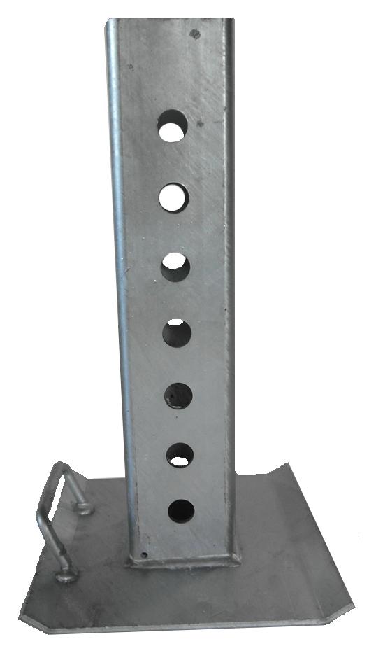 Brantner Kipper und Anhänger - Stützfuß für Sattelstützwinde KRA 750
