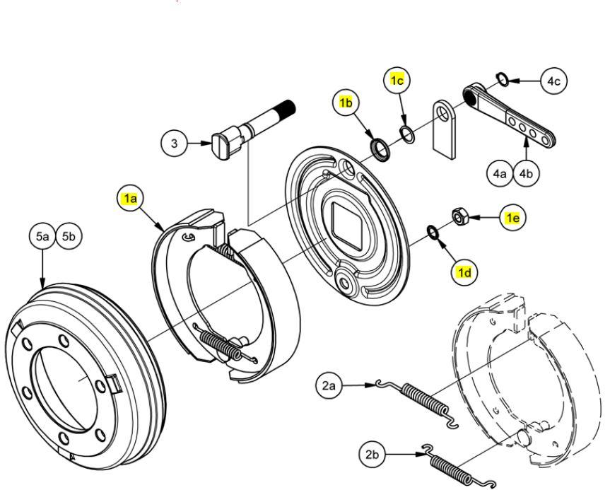 Brantner Kipper und Anhänger - Bremsbackensatz 300x60 für Bremse 306E ADR