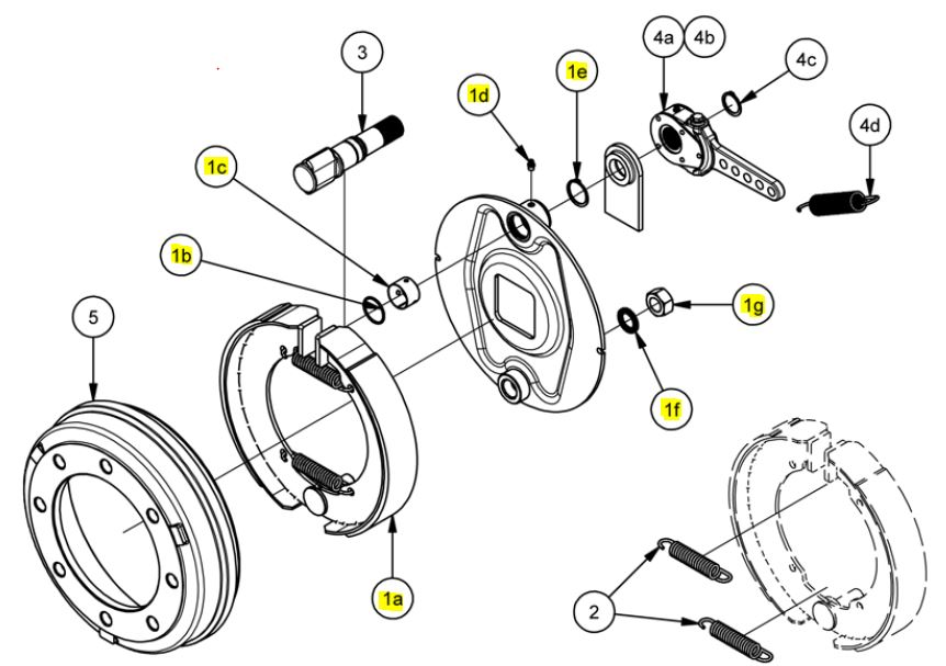 Brantner Kipper und Anhänger - Bremsbackensatz 350x60 für Bremse 356E ADR