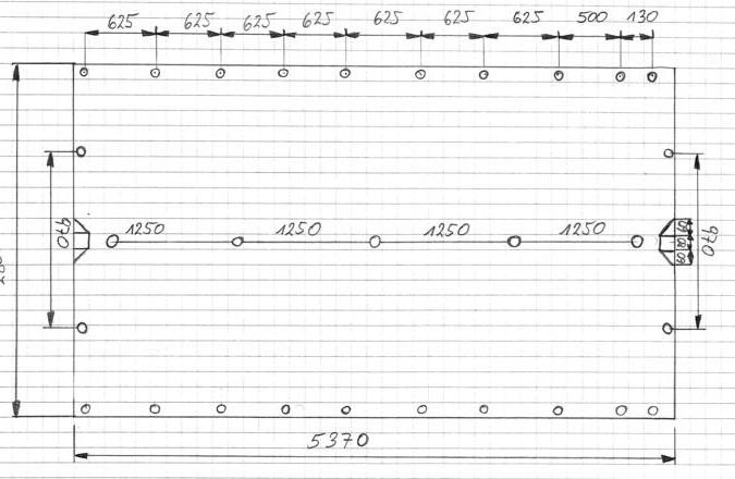 Brantner Kipper und Anhänger - Plane 5370_2800_0,8_Rechteckig mit 5 Löcher Mittig