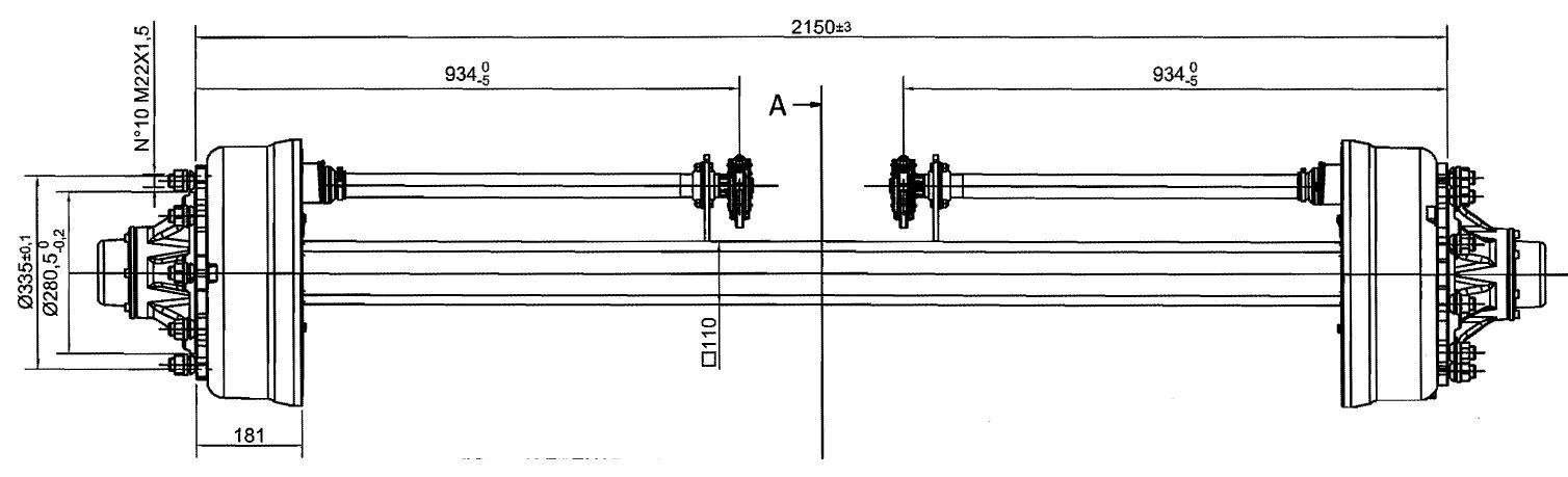 Brantner Kipper und Anhänger - Achse 110/406x120; 412E/2150/10 mittig GSK ADR