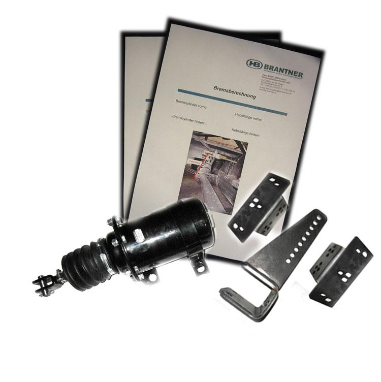 Brantner Kipper und Anhänger - Bremsberechnung mit DL-Bremszylindersatz für E