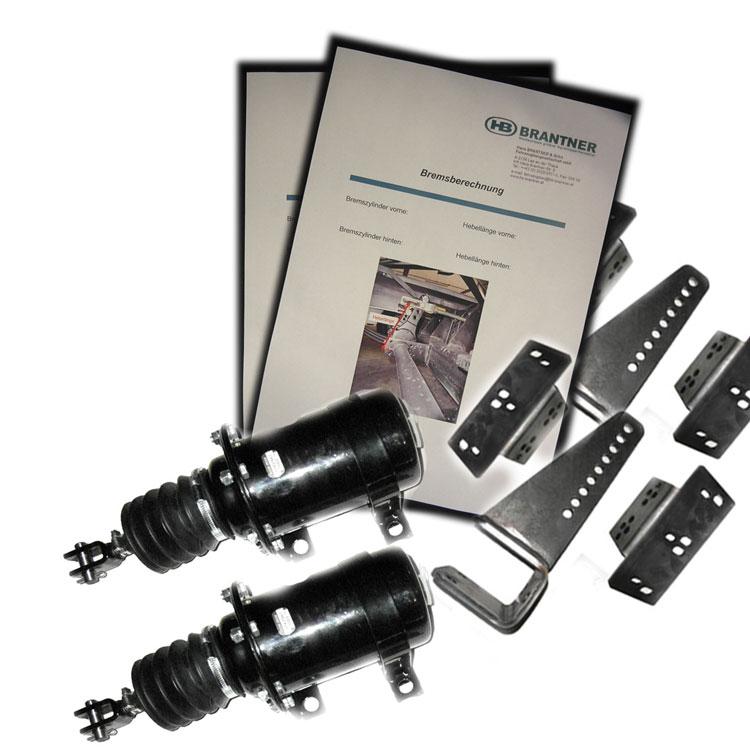 Brantner Kipper und Anhänger - brake calculation with piston brake cylinder set