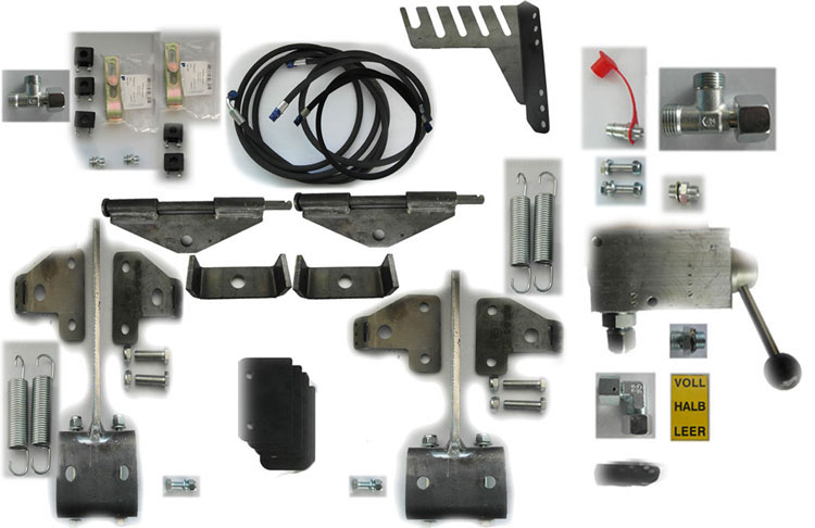 Brantner Kipper und Anhänger - hydraulic brake system - basic kit for tandem