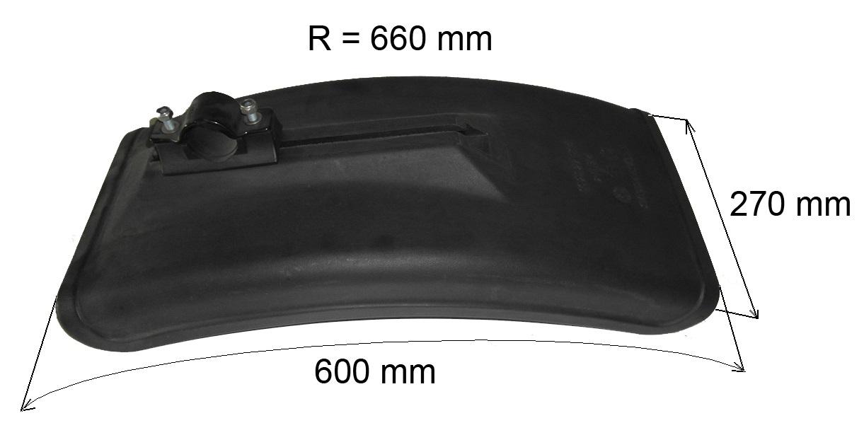 Brantner Kipper und Anhänger - Kotflügel B=270mm R=660mm L=600mm