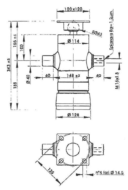 Brantner Kipper und Anhänger - HD Zylinder EW 45/60/75/90-800 M16x1,5 PE