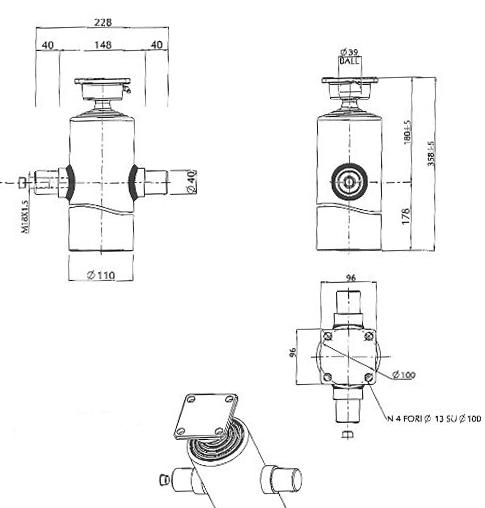 Brantner Kipper und Anhänger - HD Zylinder EW 45/60/75/90-815 M18x1,5 MR