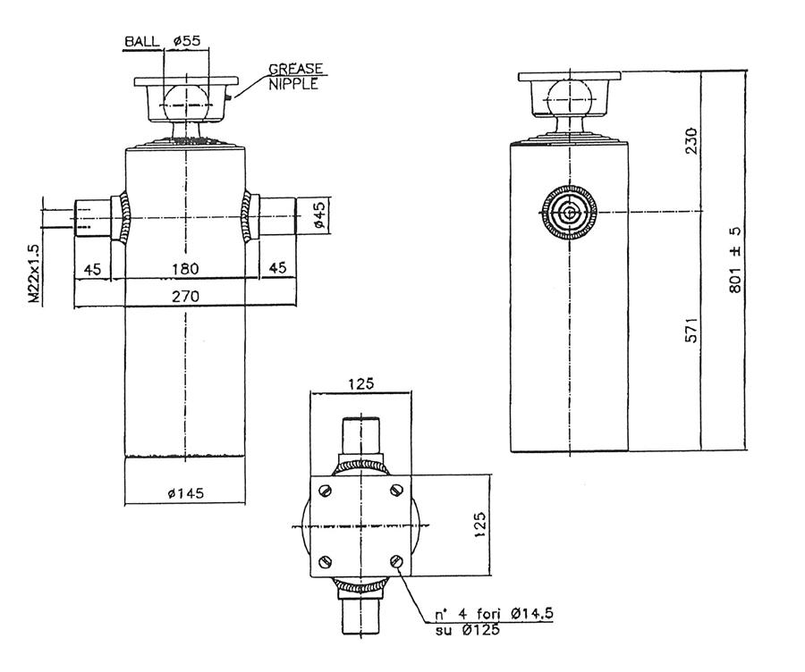 Brantner Kipper und Anhänger - HD Zylinder EW 75/90/105/120-2400 M22x1,5 MR
