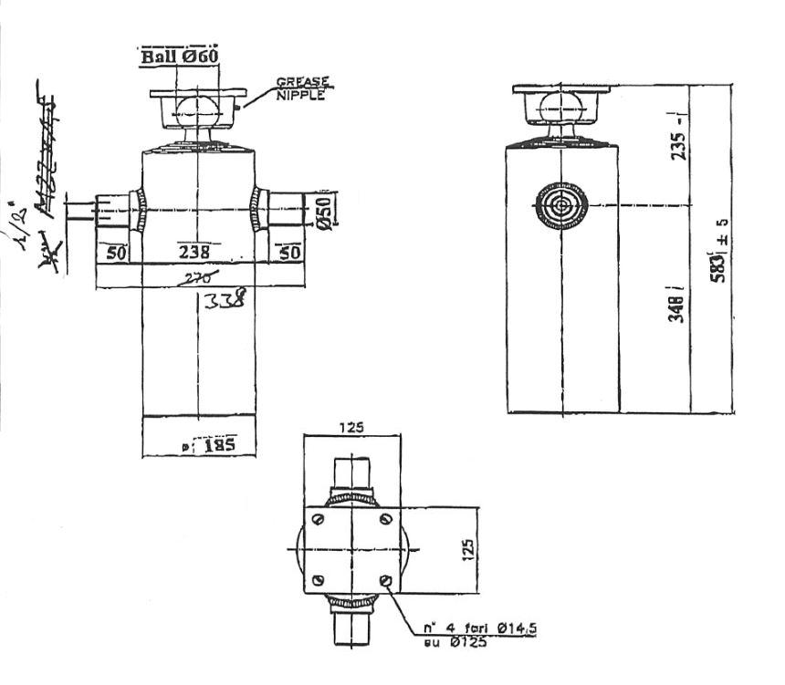 Brantner Kipper und Anhänger - HD Zylinder EW 90/105/120/140/160-1800 M22x1,5 MR
