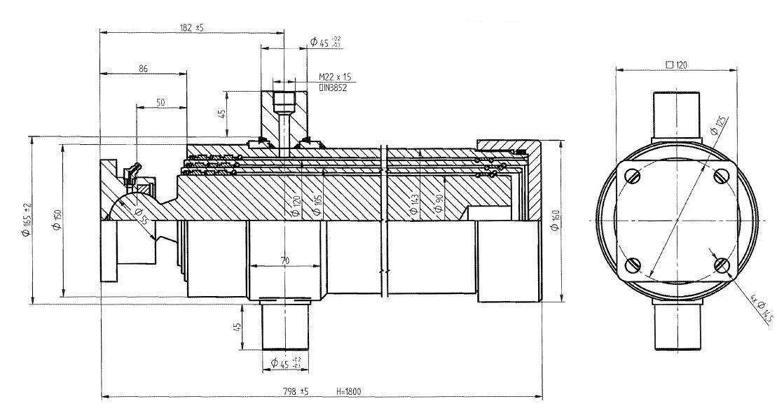 Brantner Kipper und Anhänger - HD Zylinder EW 90/105/120-1800 M22x1,5 SM