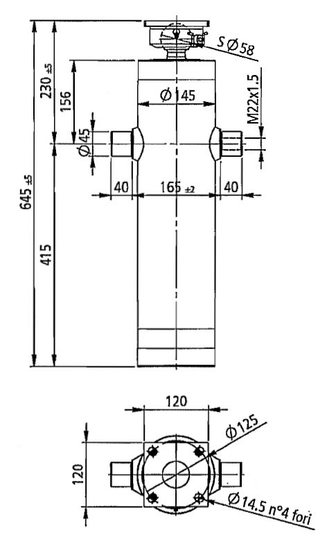 Brantner Kipper und Anhänger - HD Zylinder EW 75/90/105/120-1850 M22x1,5 PE