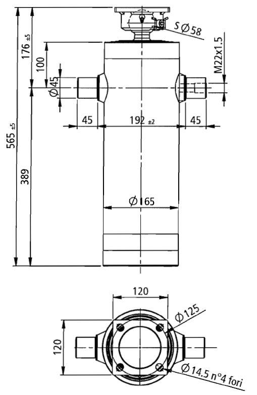 Brantner Kipper und Anhänger - HD Zylinder EW 75/90/105/120/140-1891 M22x1,5 PE