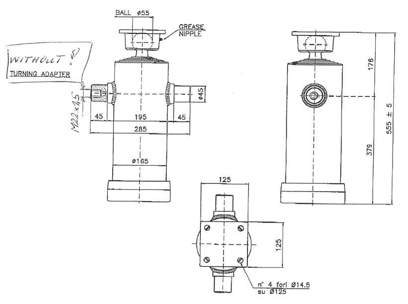 Brantner Kipper und Anhänger - HD Zylinder EW 75/90/105/120/140-1875 M22x1,5 MR