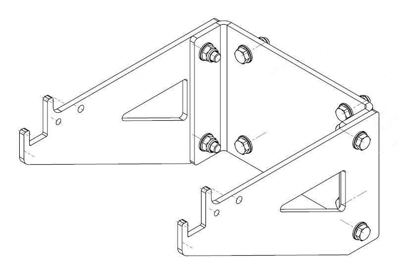 Brantner Kipper und Anhänger - Aluleiterbefestigung für TA23065DPP
