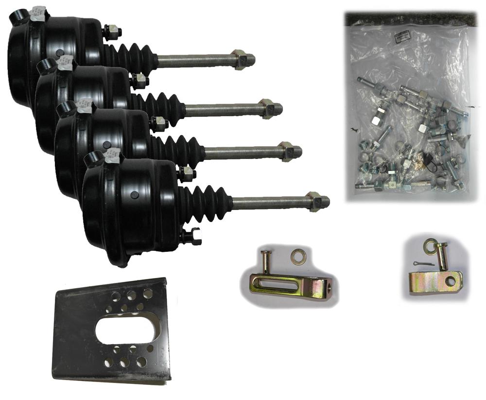 Brantner Kipper und Anhänger - piston brake cylinder D80 cylinder