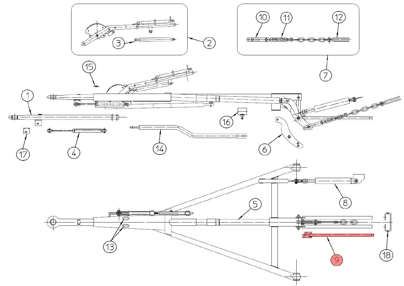 Brantner Kipper und Anhänger - Abstützrohr für ZA80-AR FAD