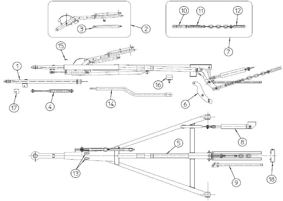 Brantner Kipper und Anhänger - gas spring for draw bars QP80B00003