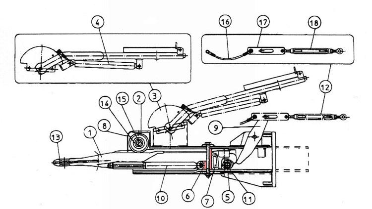 Brantner Kipper und Anhänger - Gasfederplatte f. Auflaufeinrichtung  TA80-RC2 FAD