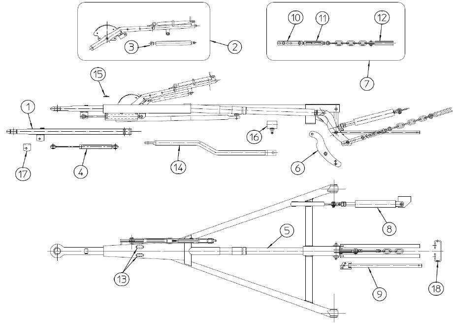Brantner Kipper und Anhänger - Feststellhebel für ZA80-AR FAD
