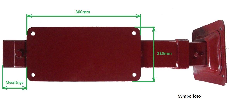 Brantner Kipper und Anhänger - Hydr. Stützfuß Hub 600;komplett; Rot lackiert