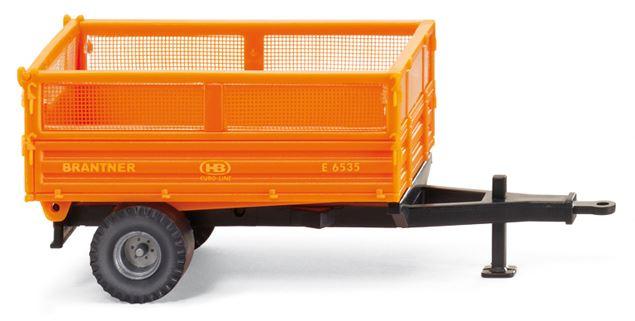 Brantner Kipper und Anhänger - Anhängermodell Brantner Einachskipper orangeWIKING