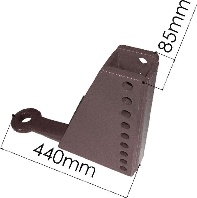 Brantner Kipper und Anhänger - HB höhenverstellbare Zugeinrichtung 9 Loch, B=85mm