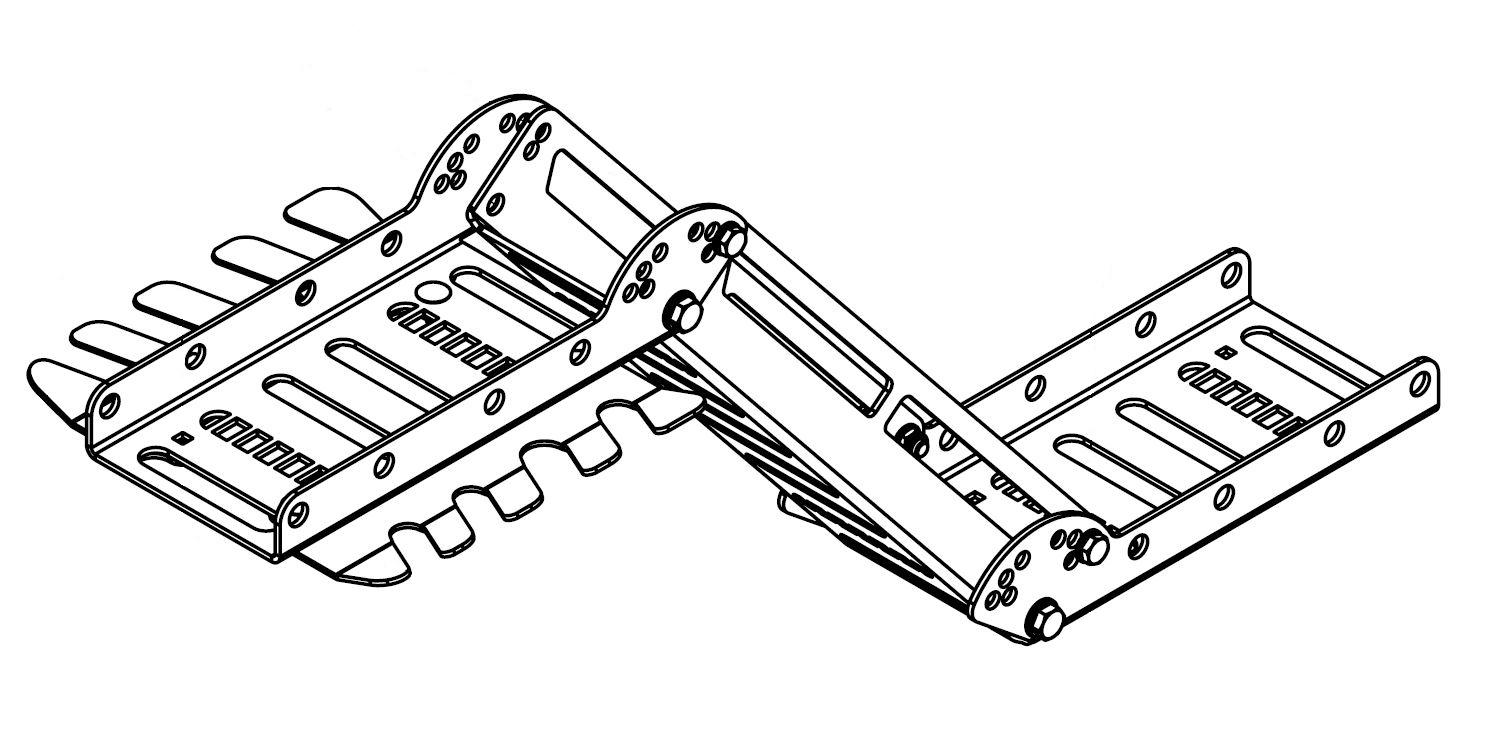 Brantner Kipper und Anhänger - einstellbare Schlauchhalterung für TA23065DPP