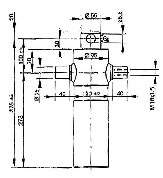Brantner Kipper und Anhänger - HD Zylinder EW 60/75-500 M18x1,5 PE