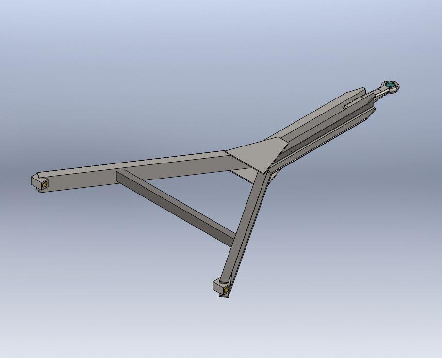 Brantner Kipper und Anhänger - Y-tow bar U100 - standard 1480/80/28-2153