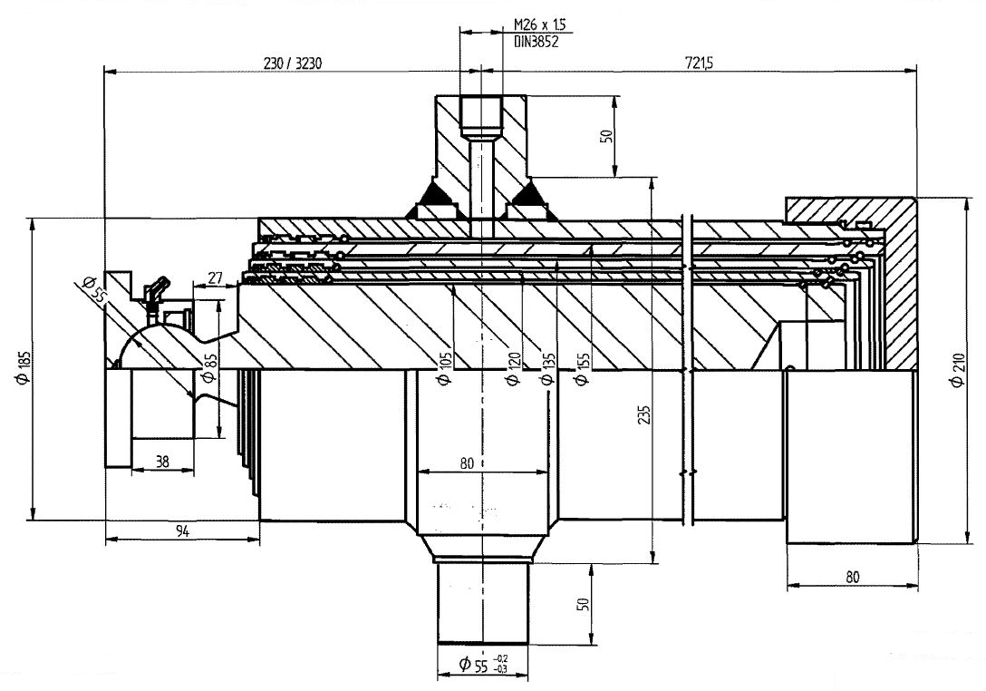 Brantner Kipper und Anhänger - HD Zylinder EW 105/120/135/155-3000 M26x1,5 SM