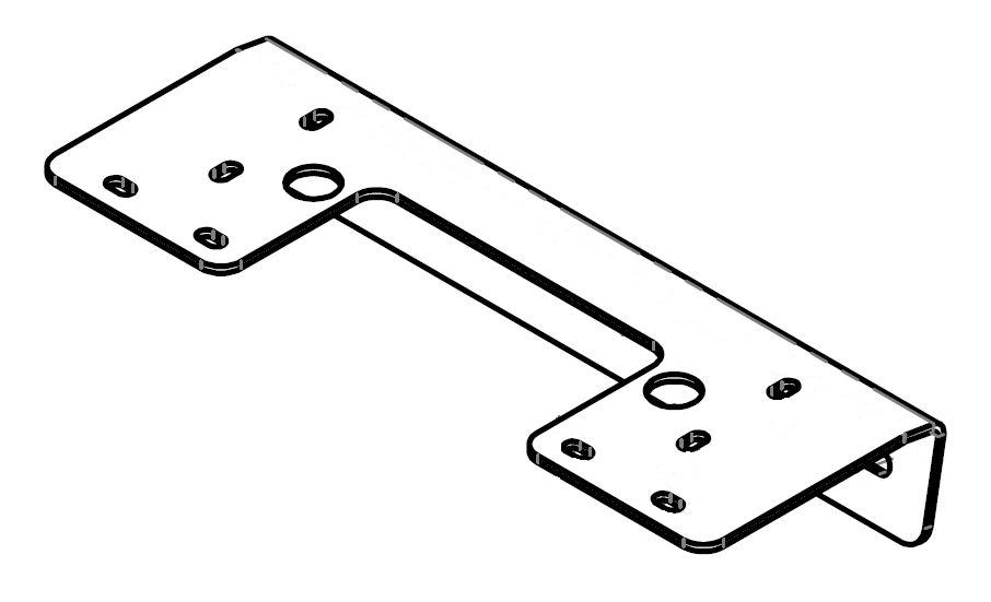 Brantner Kipper und Anhänger - Halterung für Seitenmarkierung vorne gekantet vz