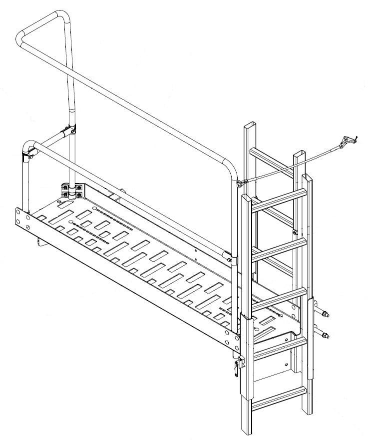 Brantner Kipper und Anhänger - Bedienplattform für TA-Fahrzeuge ab Aufbauh.1200mm