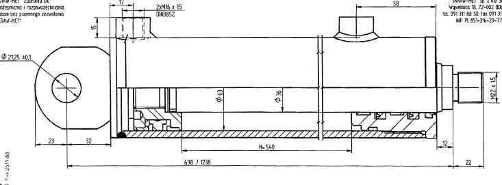 Brantner Kipper und Anhänger - HD Zylinder DW 63/36-540 SM