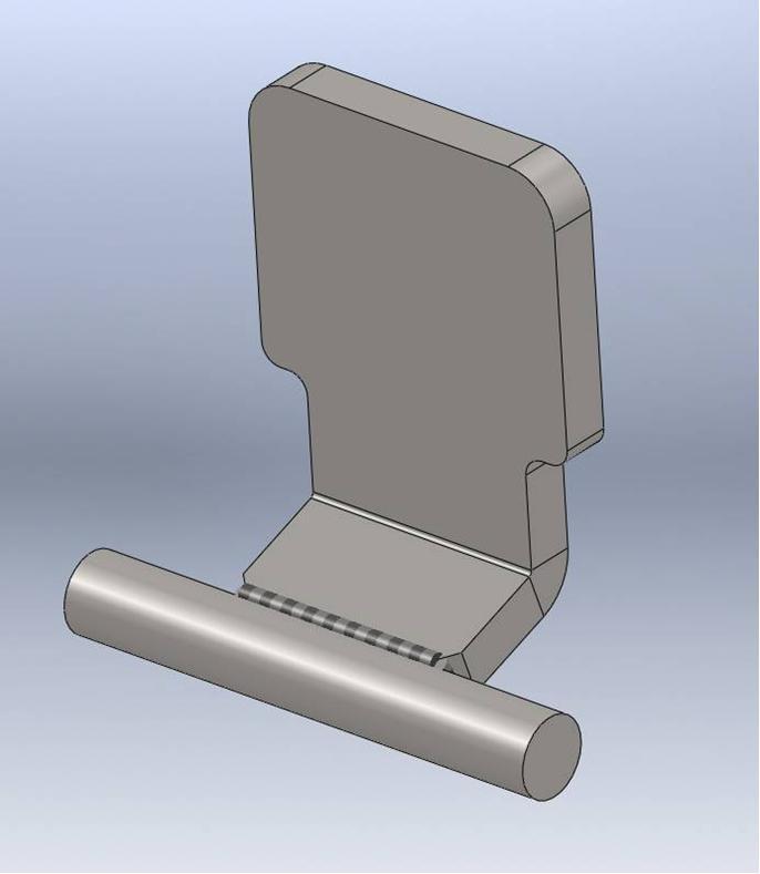 Brantner Kipper und Anhänger - sideboard hinge for double bearing