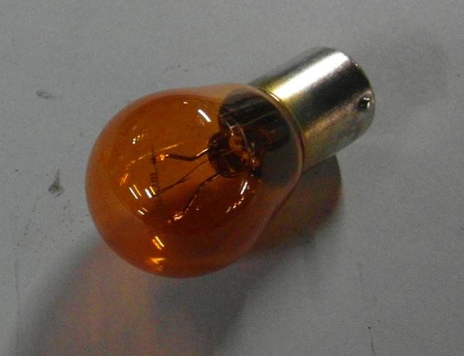 Brantner Kipper und Anhänger - Kugelbirne 24 Volt 21 Watt BAU 15S orange