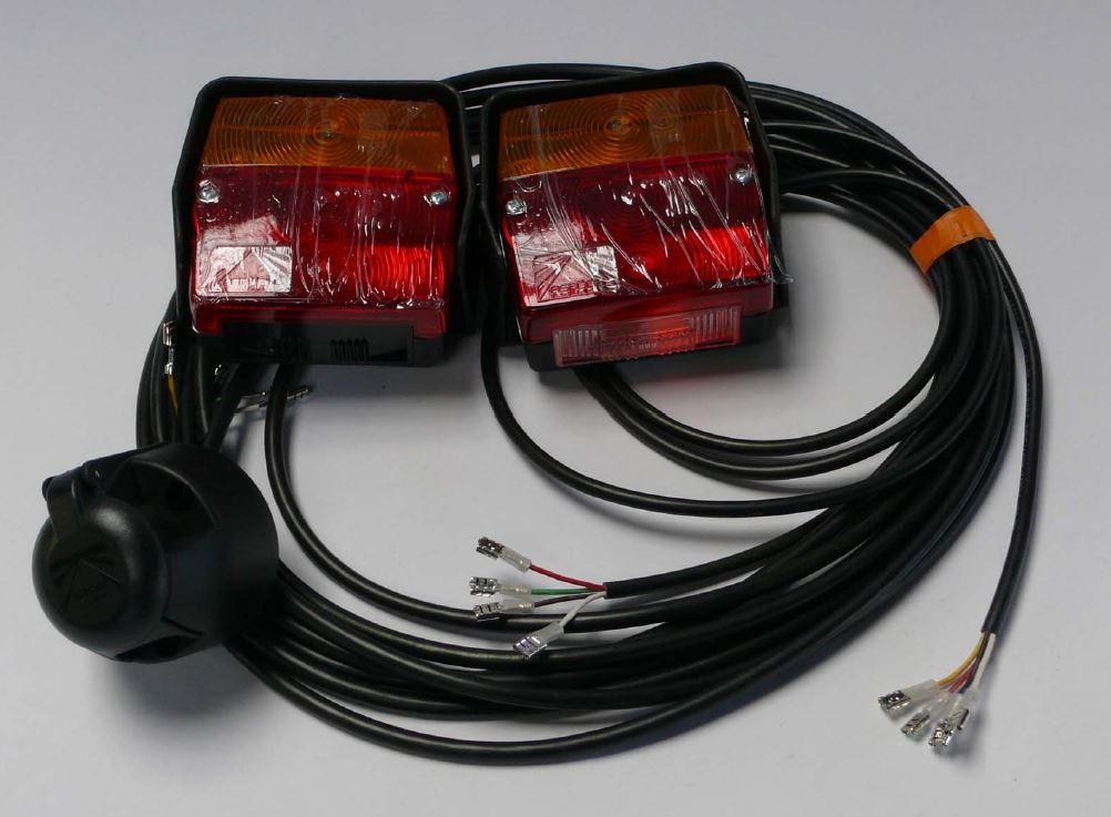 Brantner Kipper und Anhänger - Minipoint Leuchten links+rechts,+Kabel 6,25m