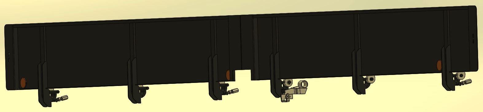 Brantner Kipper und Anhänger - Rübenrutsche seitl. komplett mit Anbauteilen,
