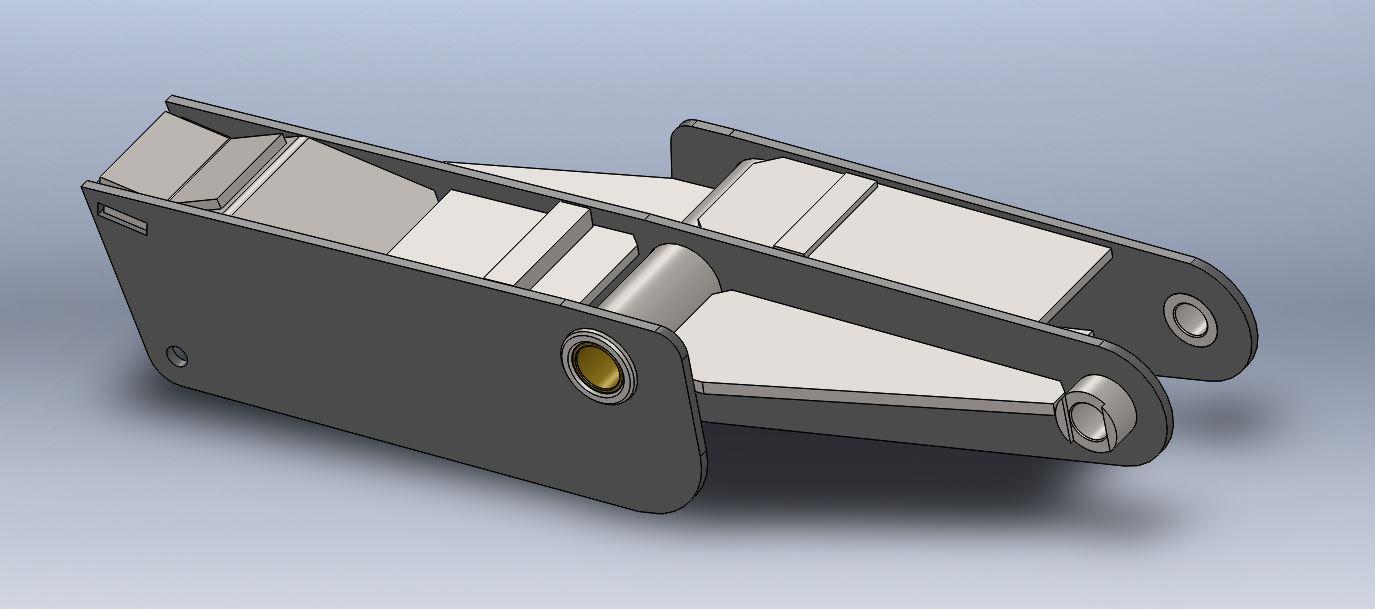 Brantner Kipper und Anhänger - Mittelwippe für Feder 80 mm Achsabstand 1600mm