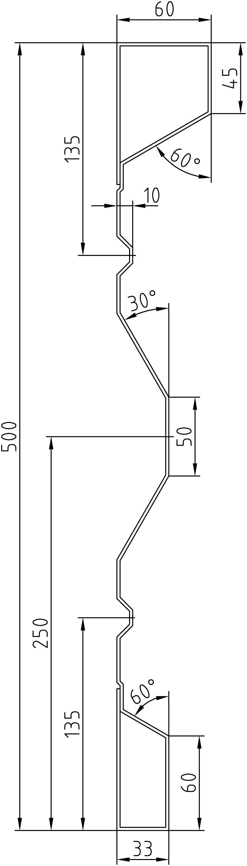 Brantner Kipper und Anhänger - 500x2,5x5000 BW samt Flacheisen EL ohne PW- Bolzen