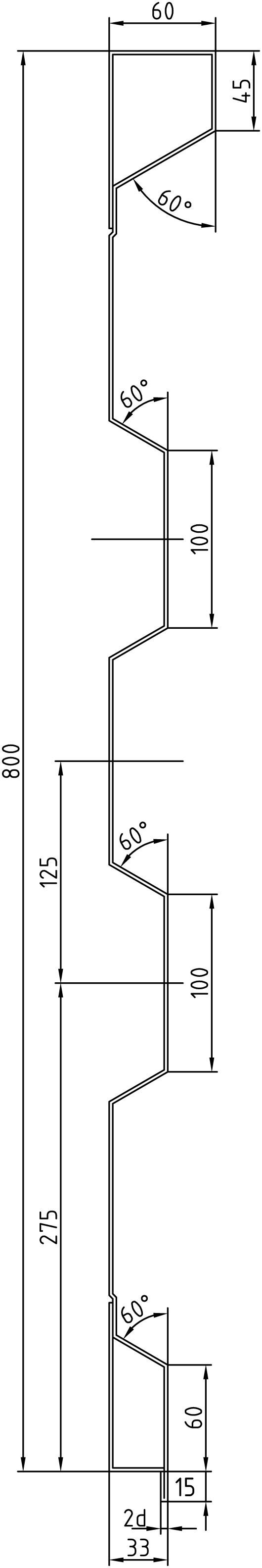 Brantner Kipper und Anhänger - 800x2,5x6008 sideboards with trailing edges