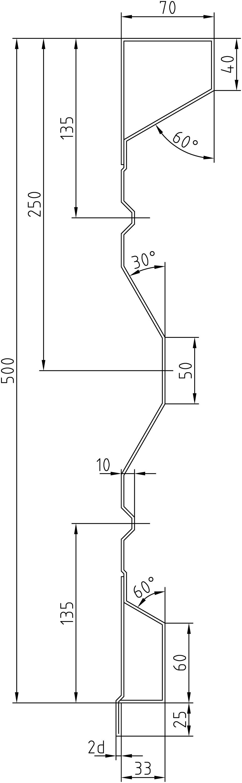 Brantner Kipper und Anhänger - 500x2x3719 attachment board with trailing edges