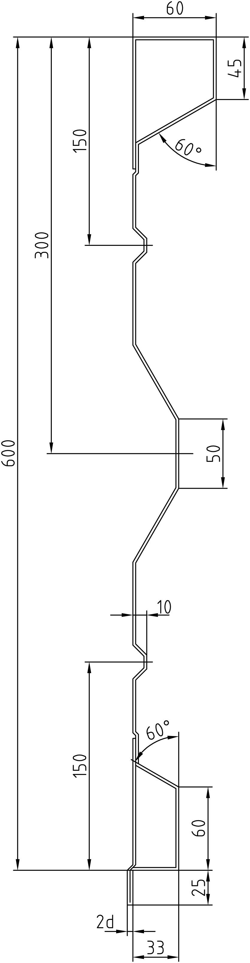 Brantner Kipper und Anhänger - 600x2x5000 attachment board with trailing edges