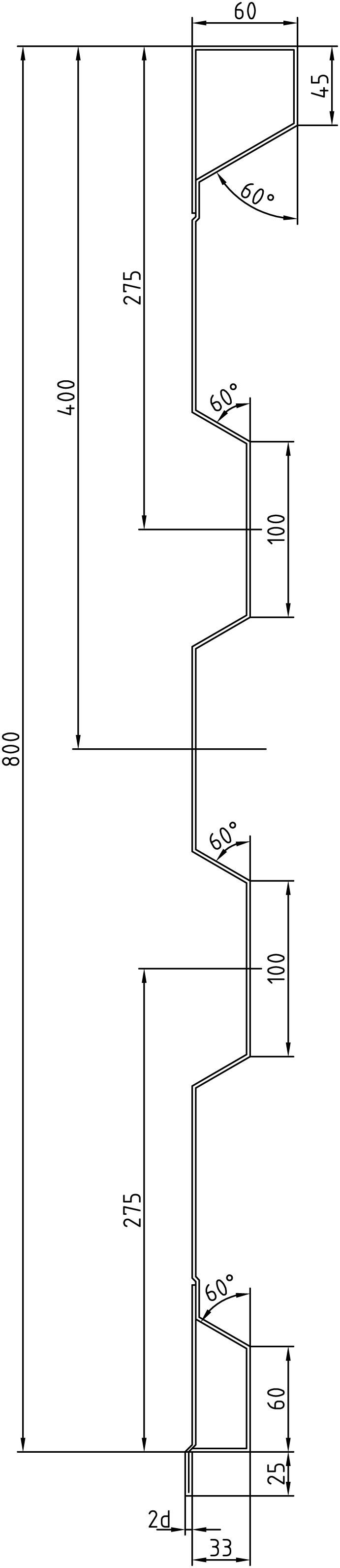 Brantner Kipper und Anhänger - 800x2,5x6008  attachment board with trailing edges