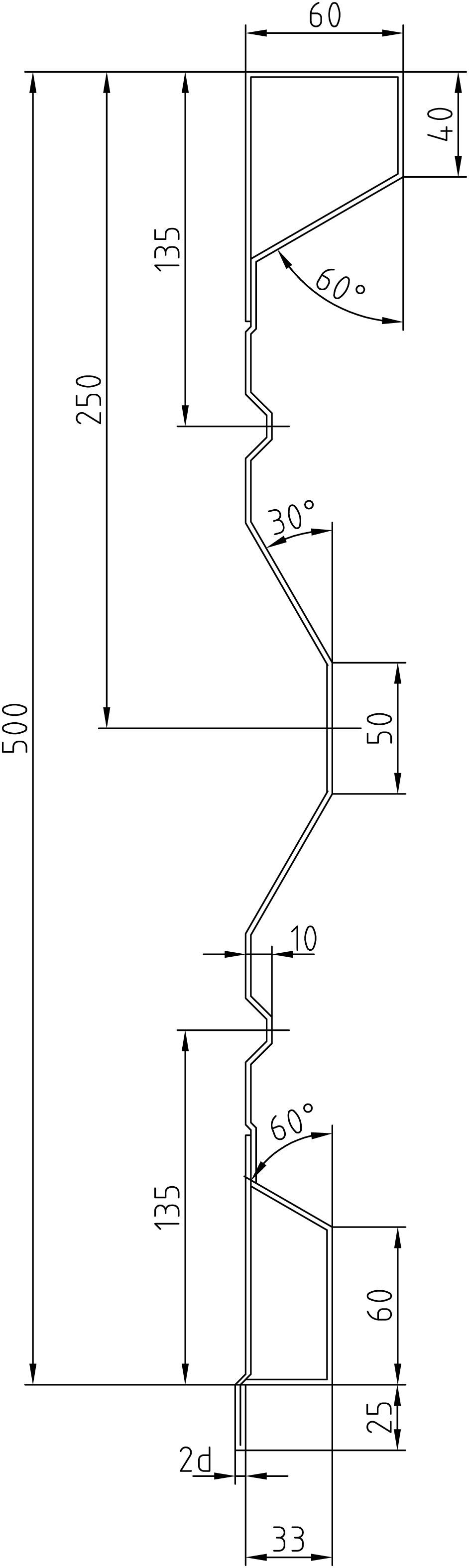 Brantner Kipper und Anhänger - 500x2x3940 attachment board with trailing edges