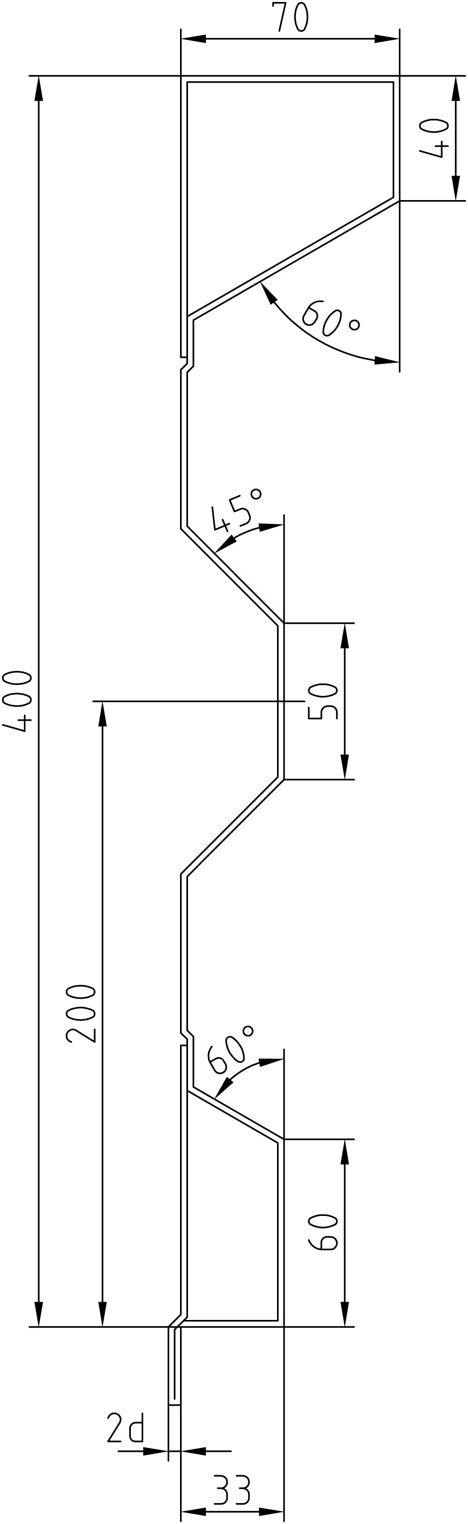 Brantner Kipper und Anhänger - 400x2x6220 attachment wall with trailing edges
