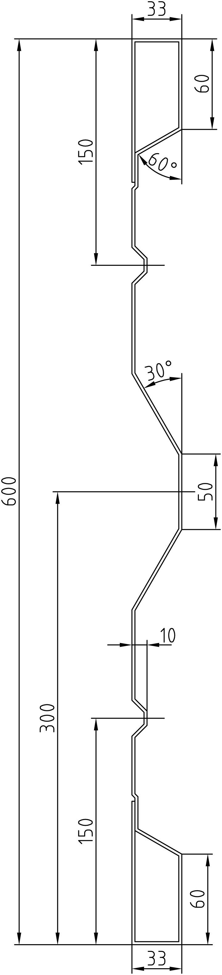 Brantner Kipper und Anhänger - 600x2x2335 Stirn BW samt EL ohne Löcher