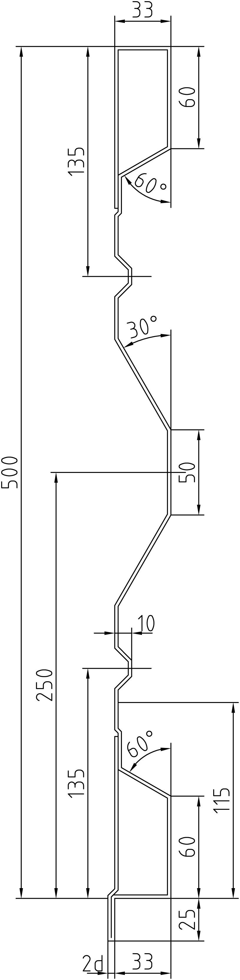Brantner Kipper und Anhänger - 500x2x2405 Stirn AW samt EL ohne Löcher